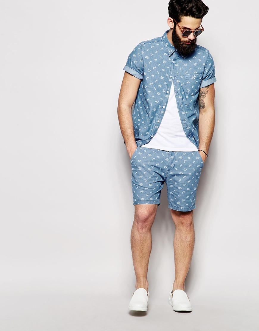Mens Co Ord Shorts And Shirt