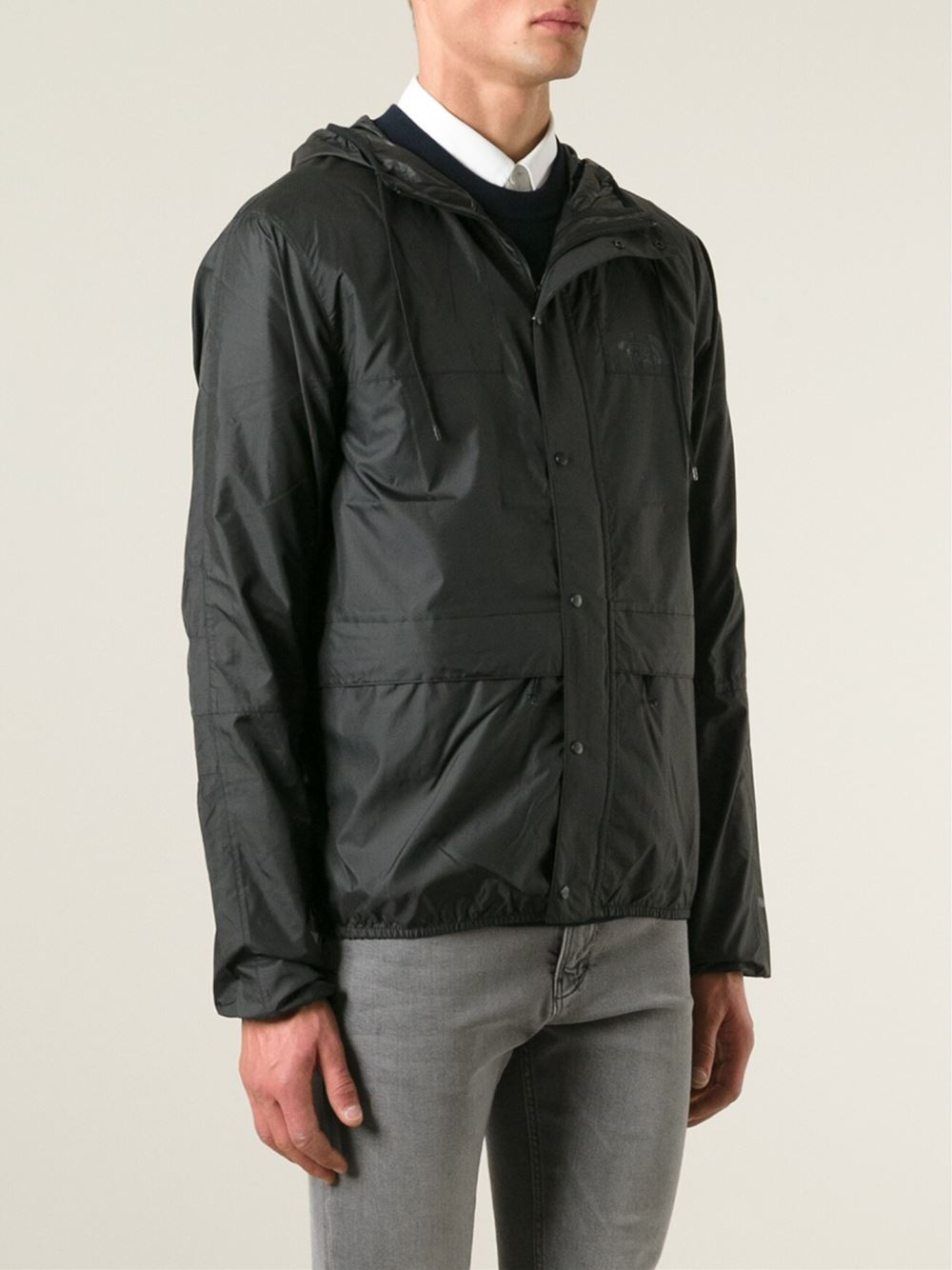 The North Face Hooded Windbreaker Jacket In Black For Men