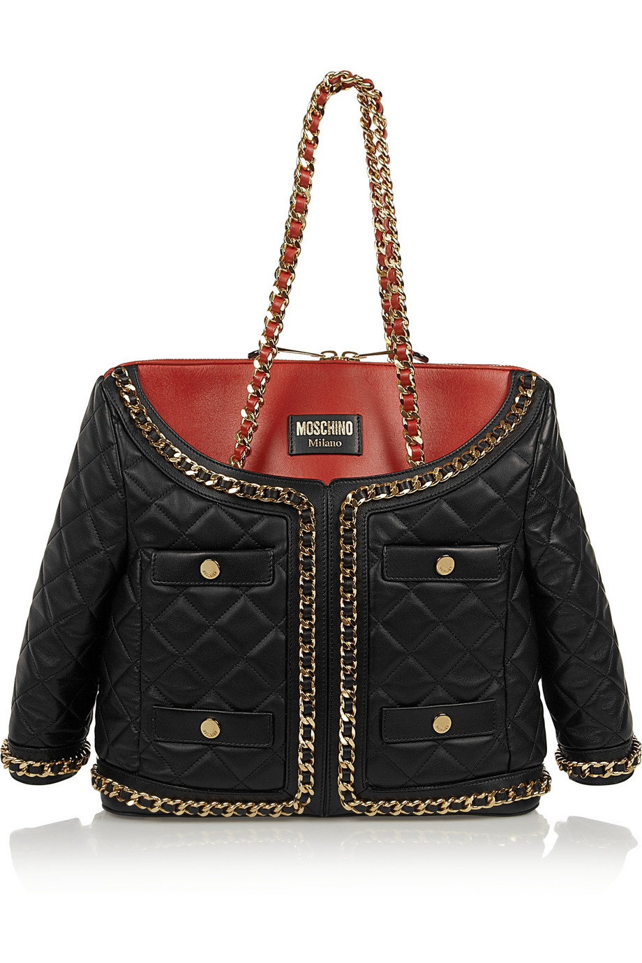 Moschino Jacket Quilted Leather Shoulder Bag In Black Lyst