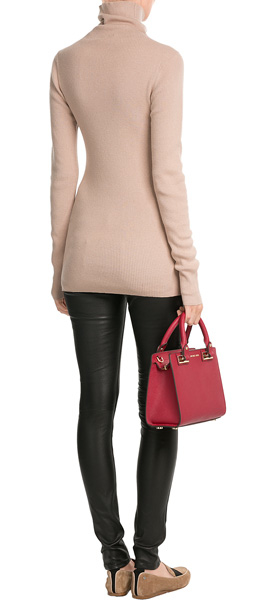 83b14683f39de8 ... Michael Michael Kors Quinn Small Leather Satchel - Red in Re ...