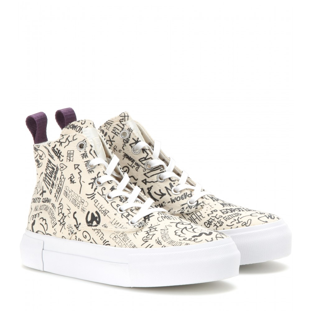 Eytys Odyssey Canvas High-top Sneakers in Cream (Natural)
