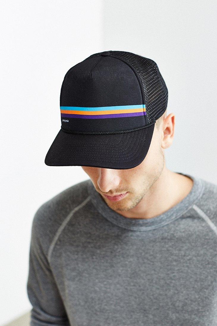 Lyst - Patagonia Fitz Roy Lopro Trucker Hat in Black for Men de02296260d
