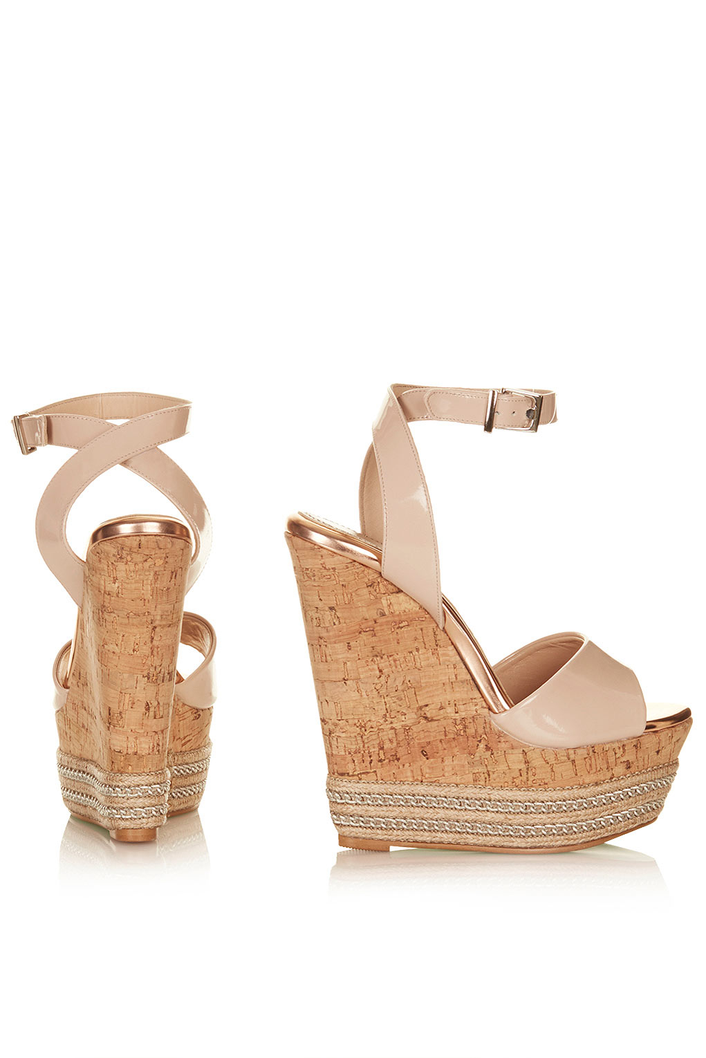 Lyst Topshop Miami Wedges By Cjg In Natural