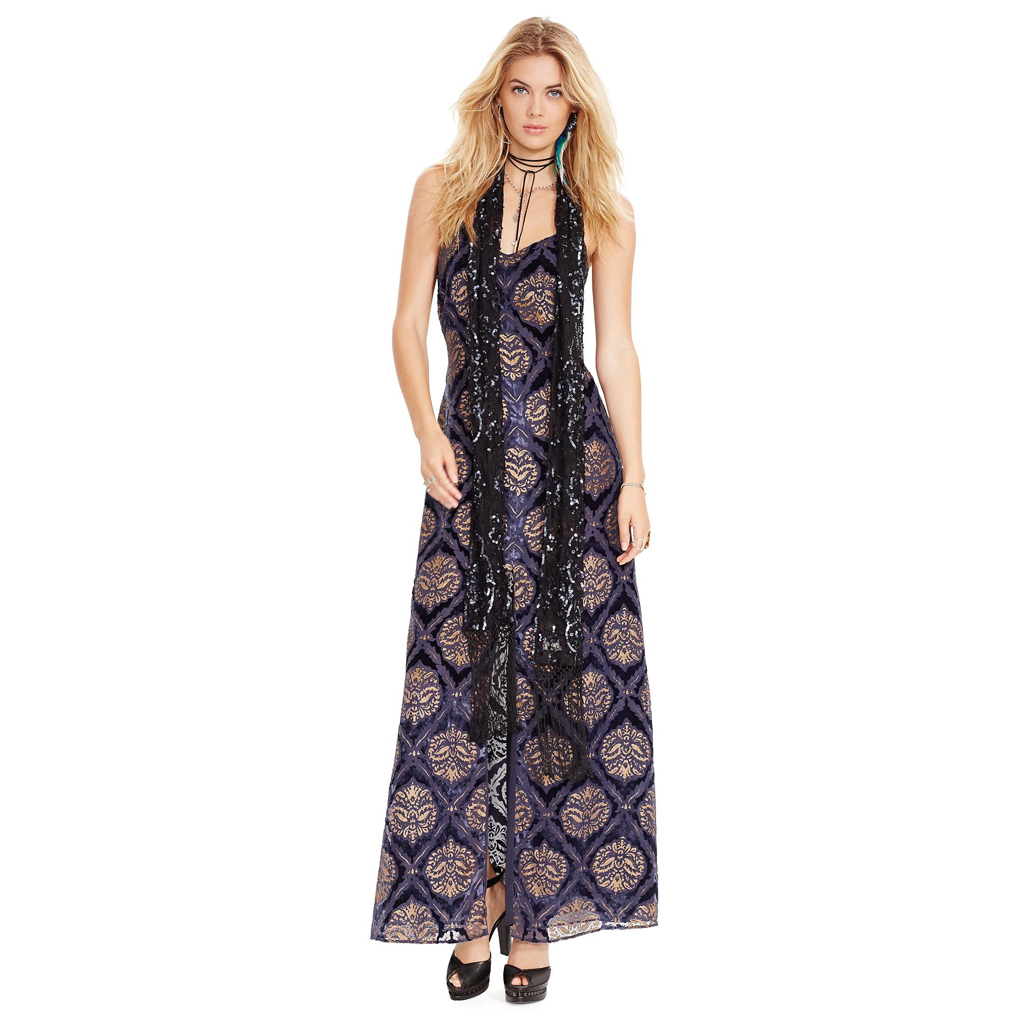 Lyst - Denim & Supply Ralph Lauren Burn-out Velvet Slip Dress