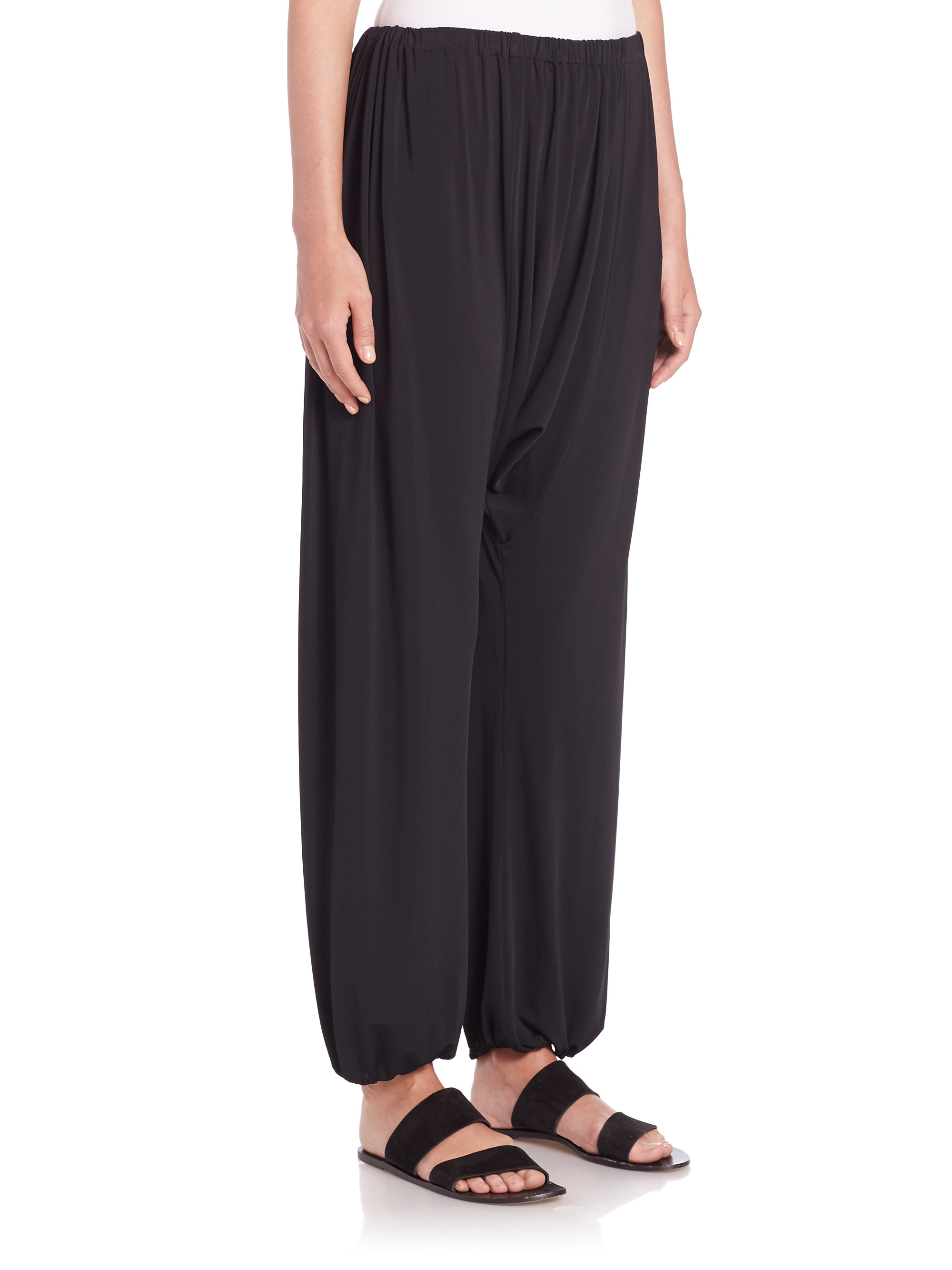 The row Knit Harem Pants in Black | Lyst