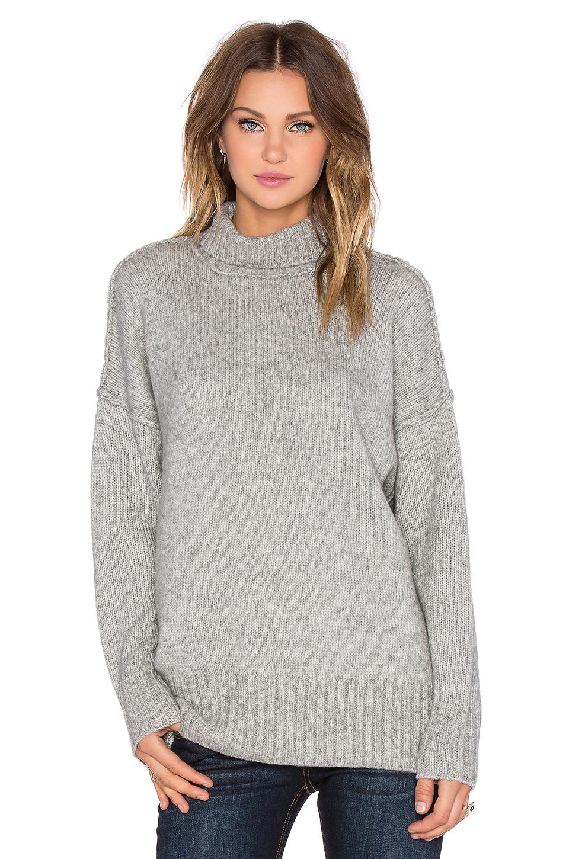 Lyst - Nlst Oversized Turtleneck Sweater in Gray