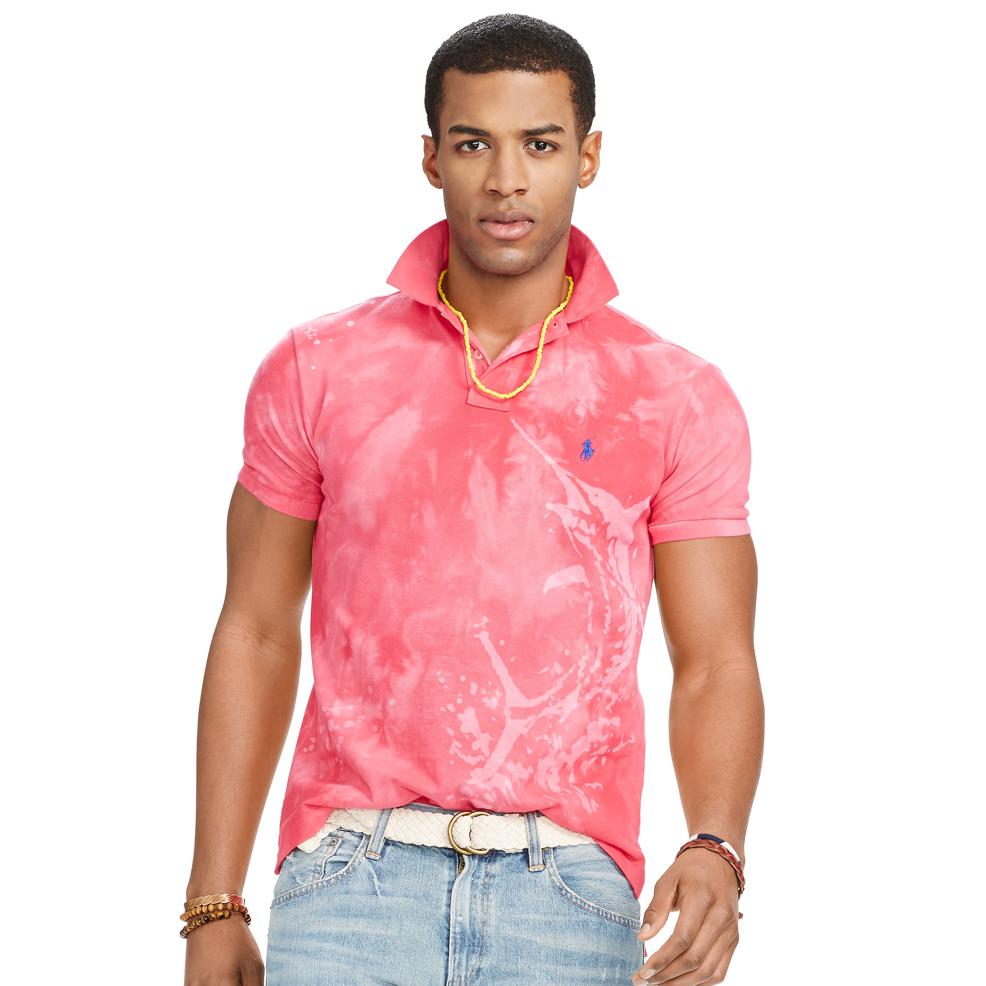 Lyst Polo Ralph Lauren Marlin Mesh Polo Shirt In Pink For Men