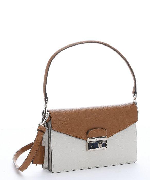 Prada Caramel Saffiano Leather Convertible Shoulder Bag in Brown ...