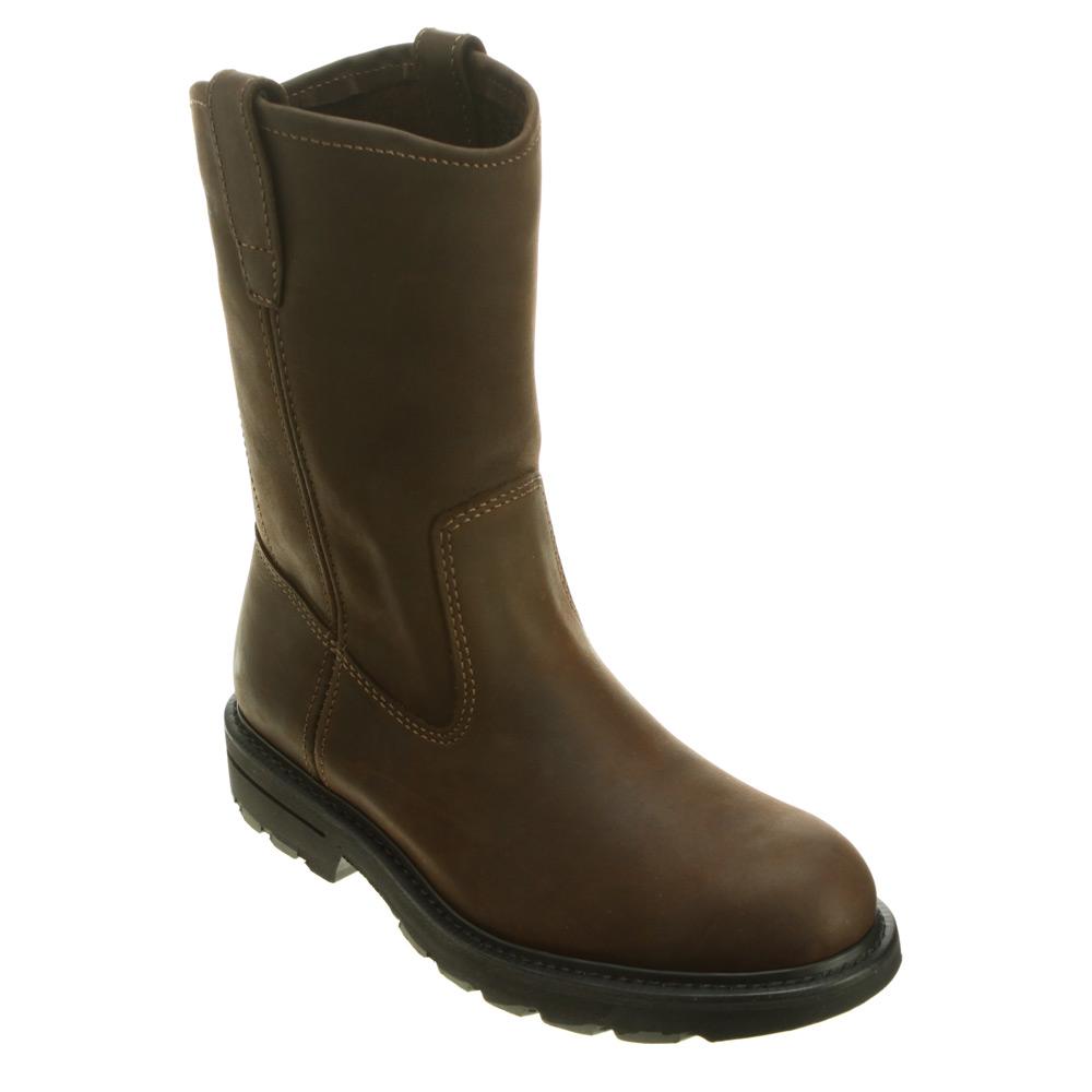 wolverine slip resistant 10 inch wellington in brown for