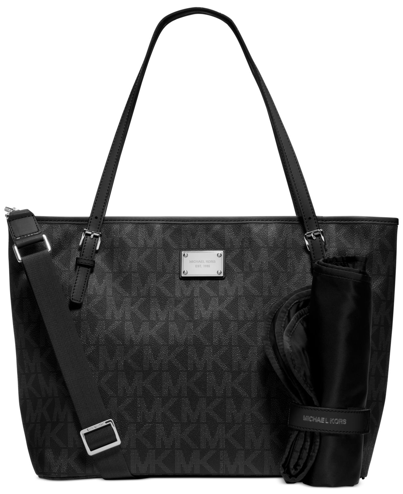 michael kors michael jet set diaper bag in black lyst. Black Bedroom Furniture Sets. Home Design Ideas