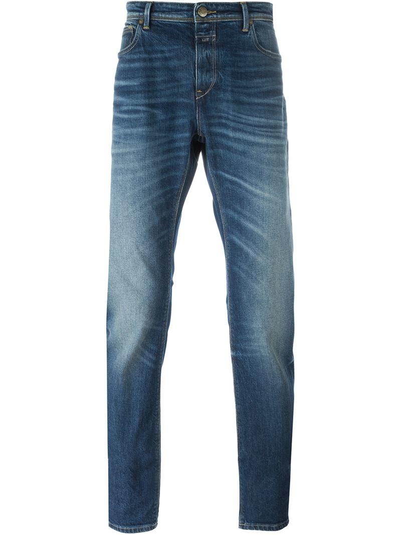 closed straight leg jeans in blue for men lyst. Black Bedroom Furniture Sets. Home Design Ideas