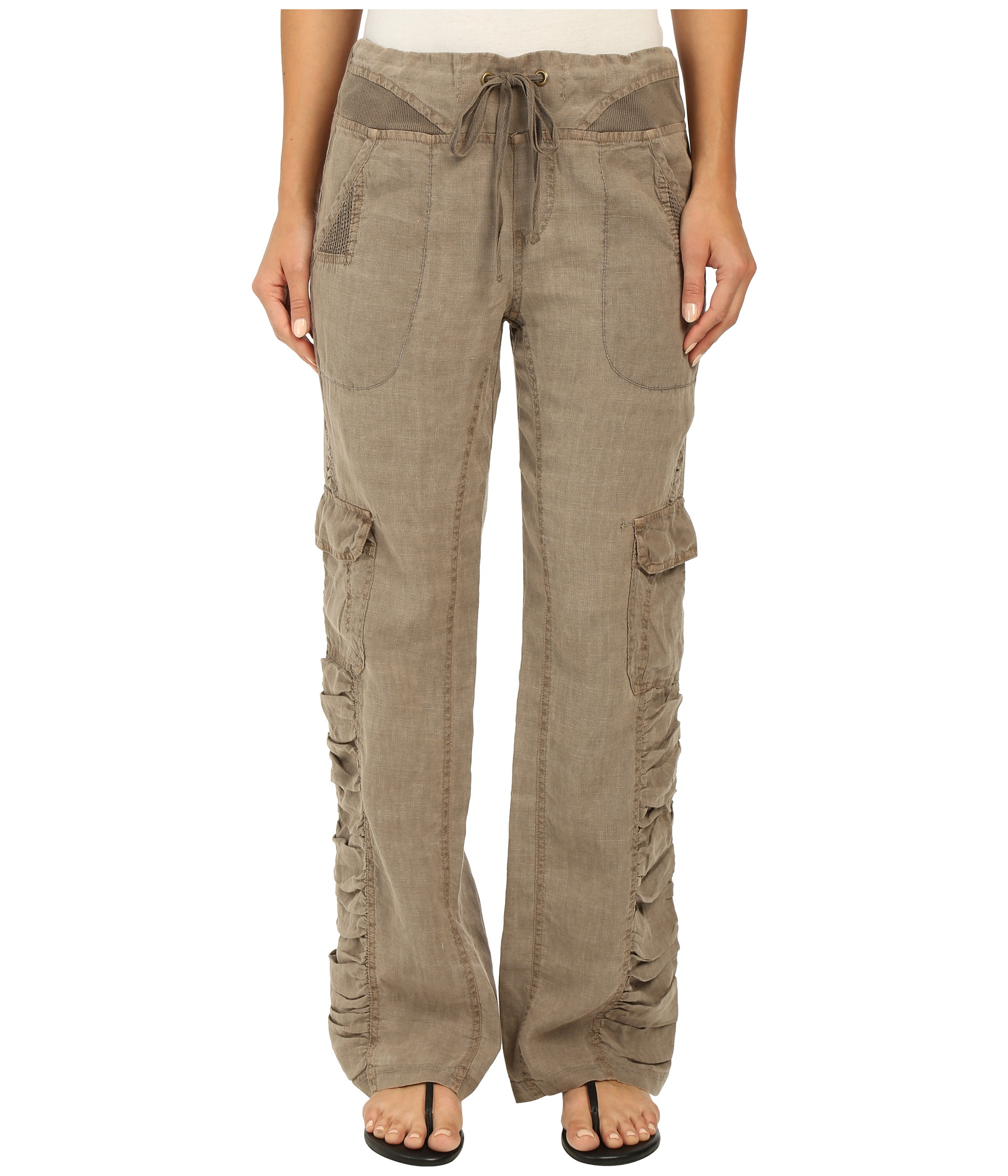 Cool Classic Cargo Details Elevate These Eileen Fisher Cropped Linen Pants