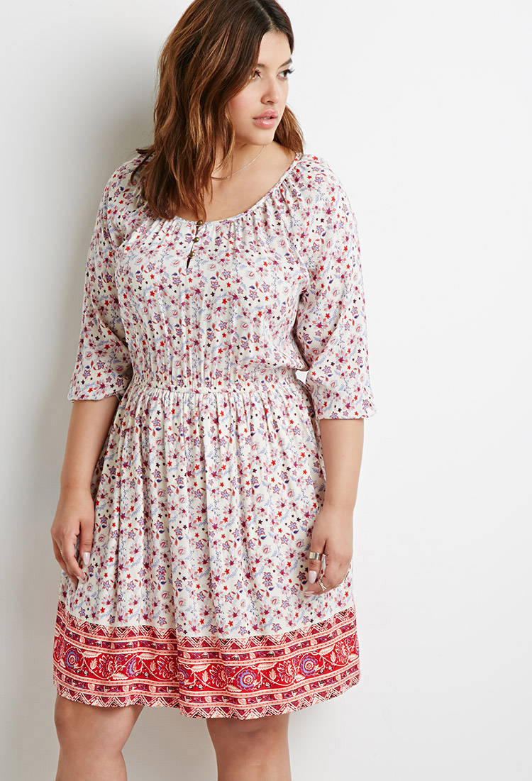 Forever 21 Paisley Print Babydoll Dress in Pink | Lyst