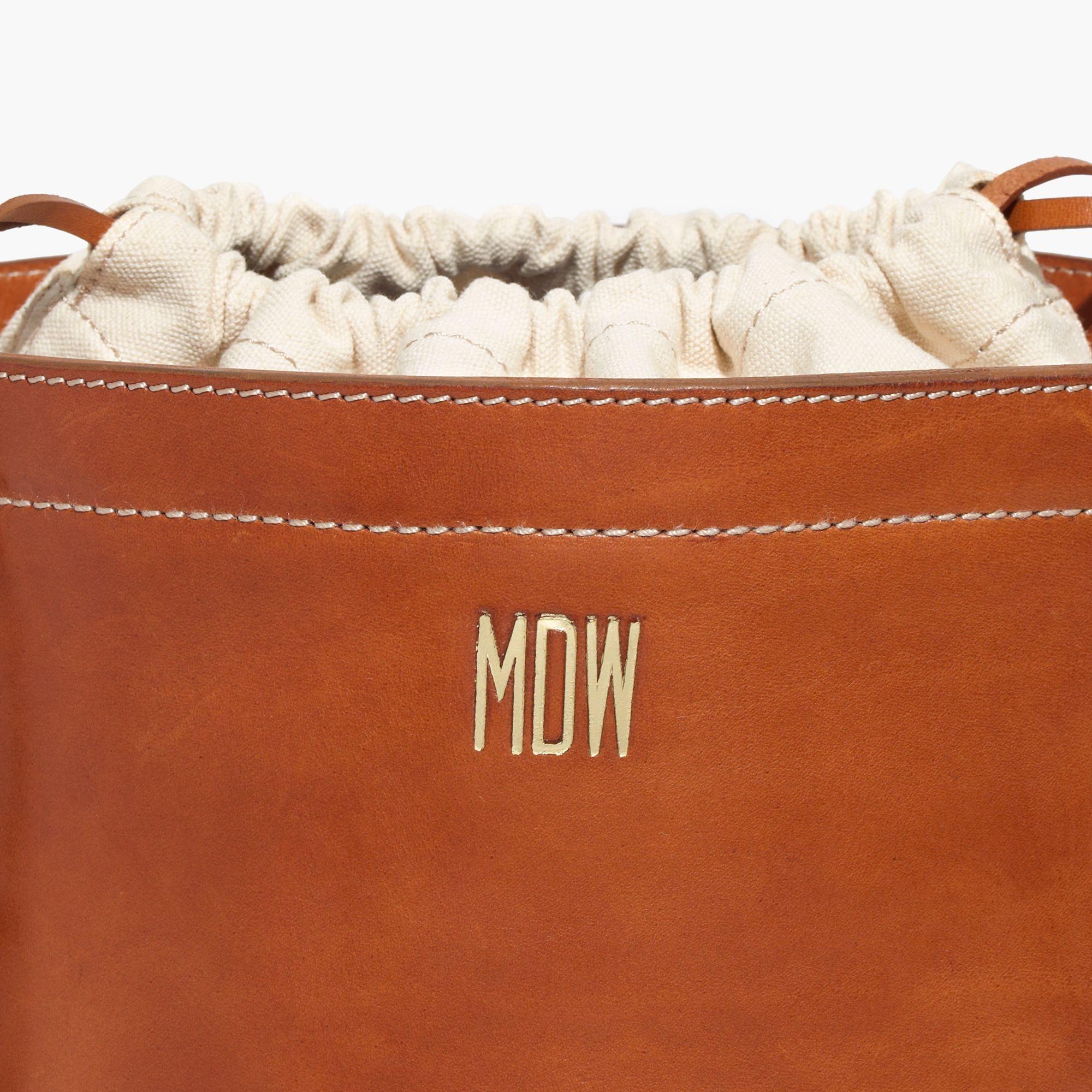 Madewell Rivet & Thread Drawstring Bucket Bag in Brown | Lyst