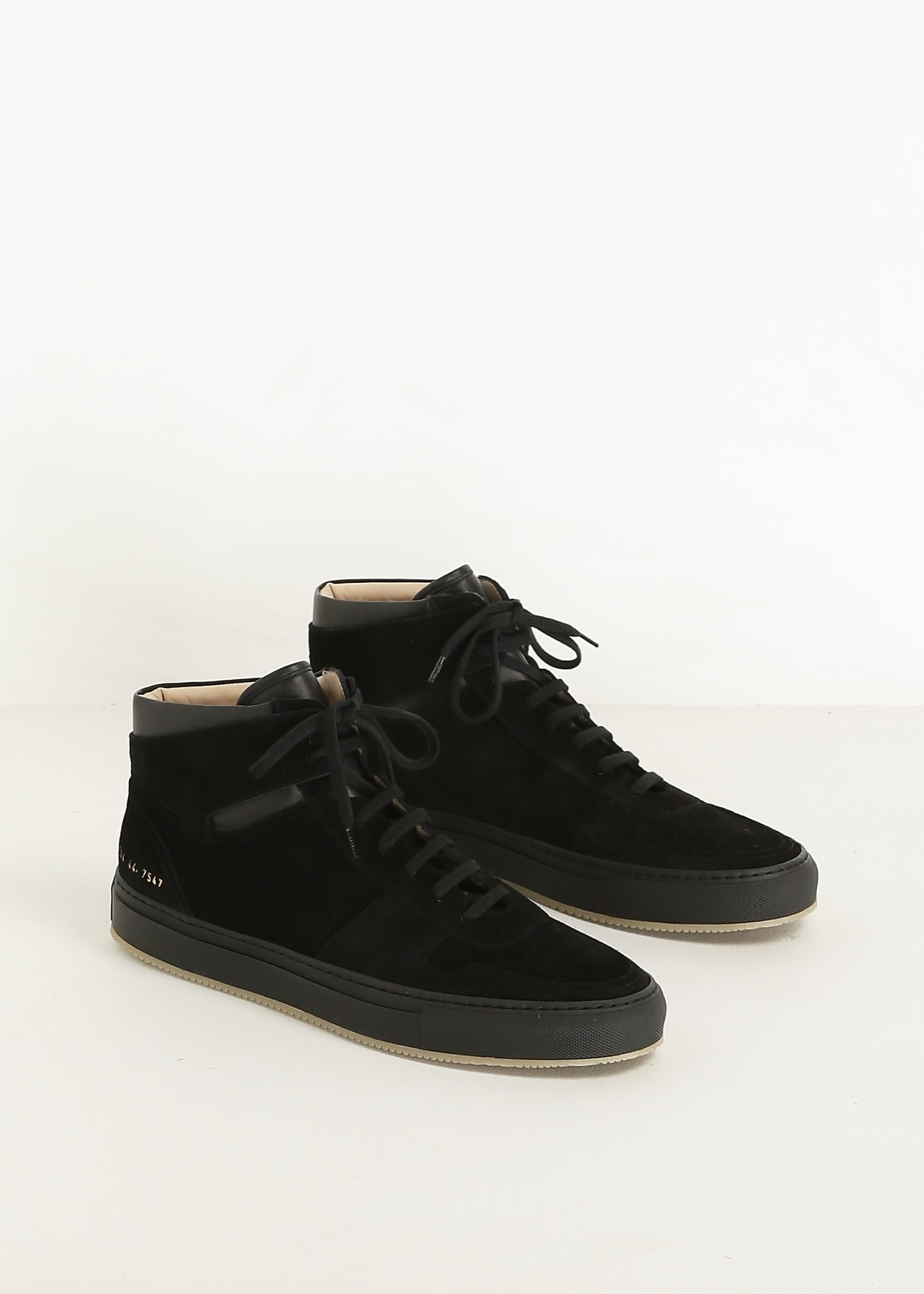 f476745db0c Lyst - Common Projects Black Bball High Suede Sneaker in Black for Men