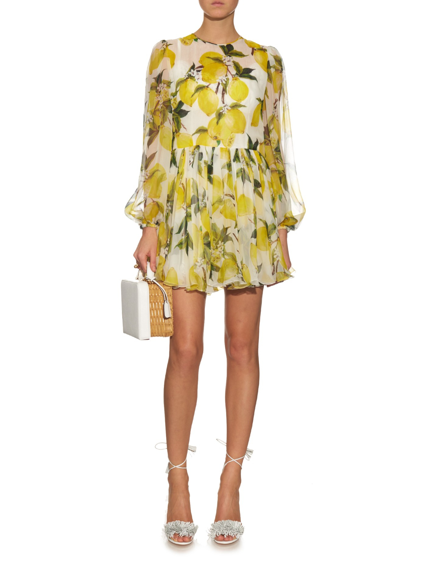 Lemon Chiffon Mini Dress