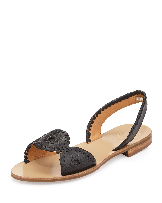 Jack Rogers Liliana Leather Slingback Sandal In Black Lyst
