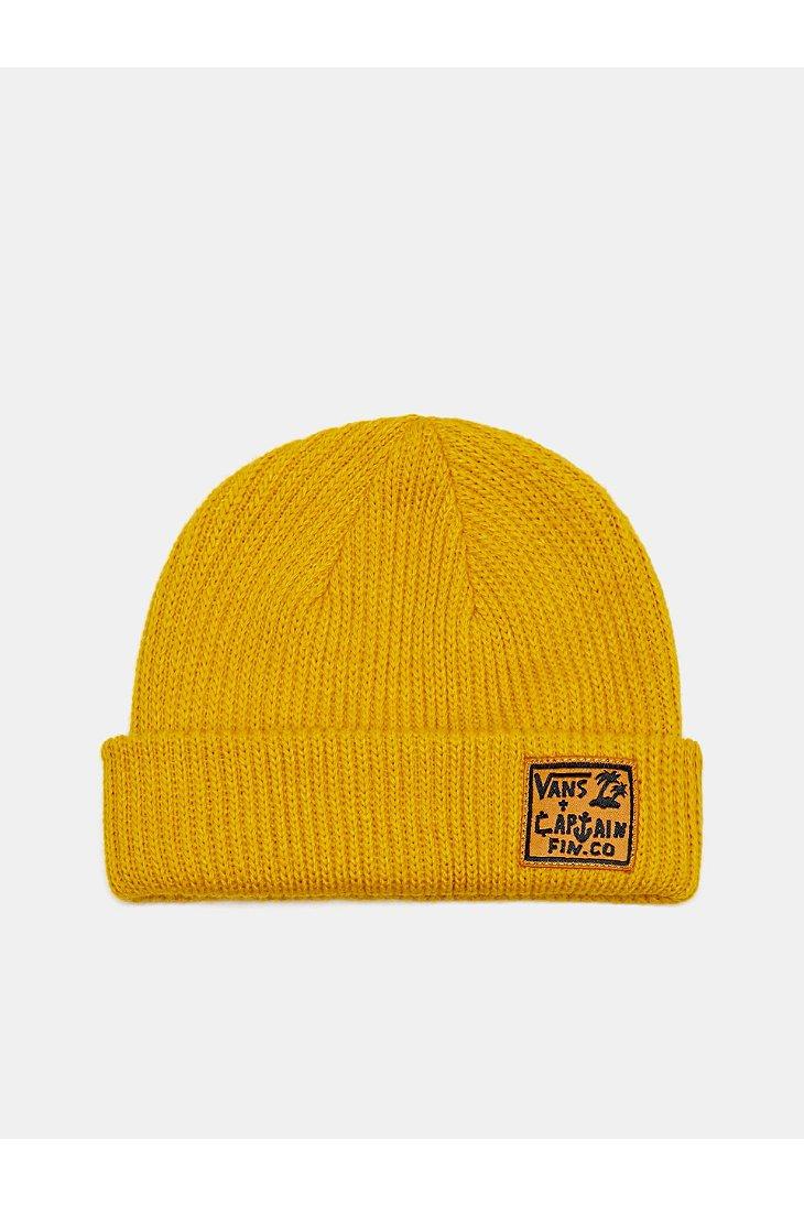 a8d232d7348 Lyst - Vans Captain Fin X Beanie in Yellow for Men
