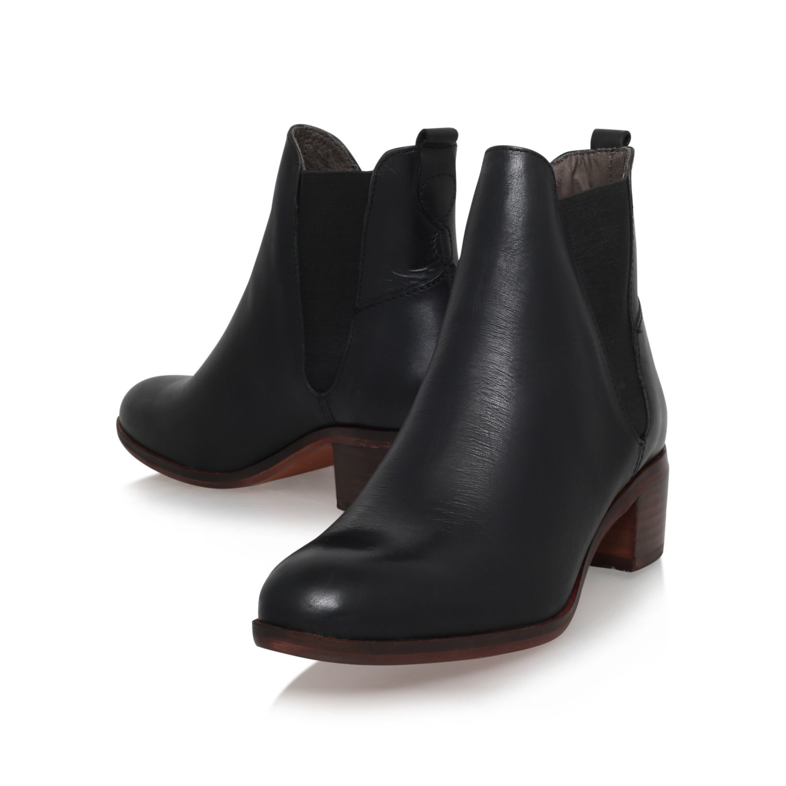 H by hudson Compound Mid Block Heel Ankle Boots in Black ...