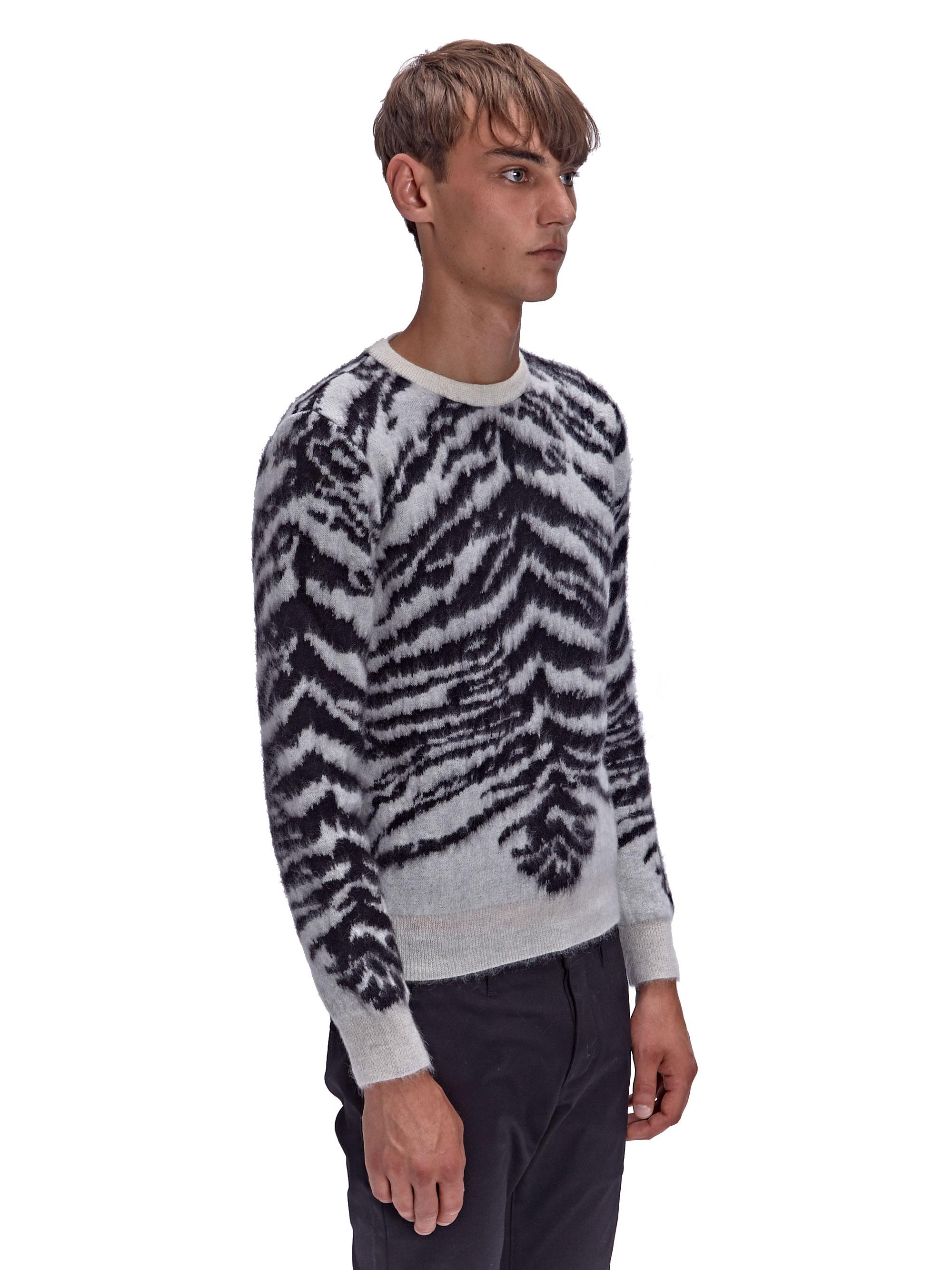 Saint laurent Mens Jacquard Tiger Crew Neck Sweater in ...