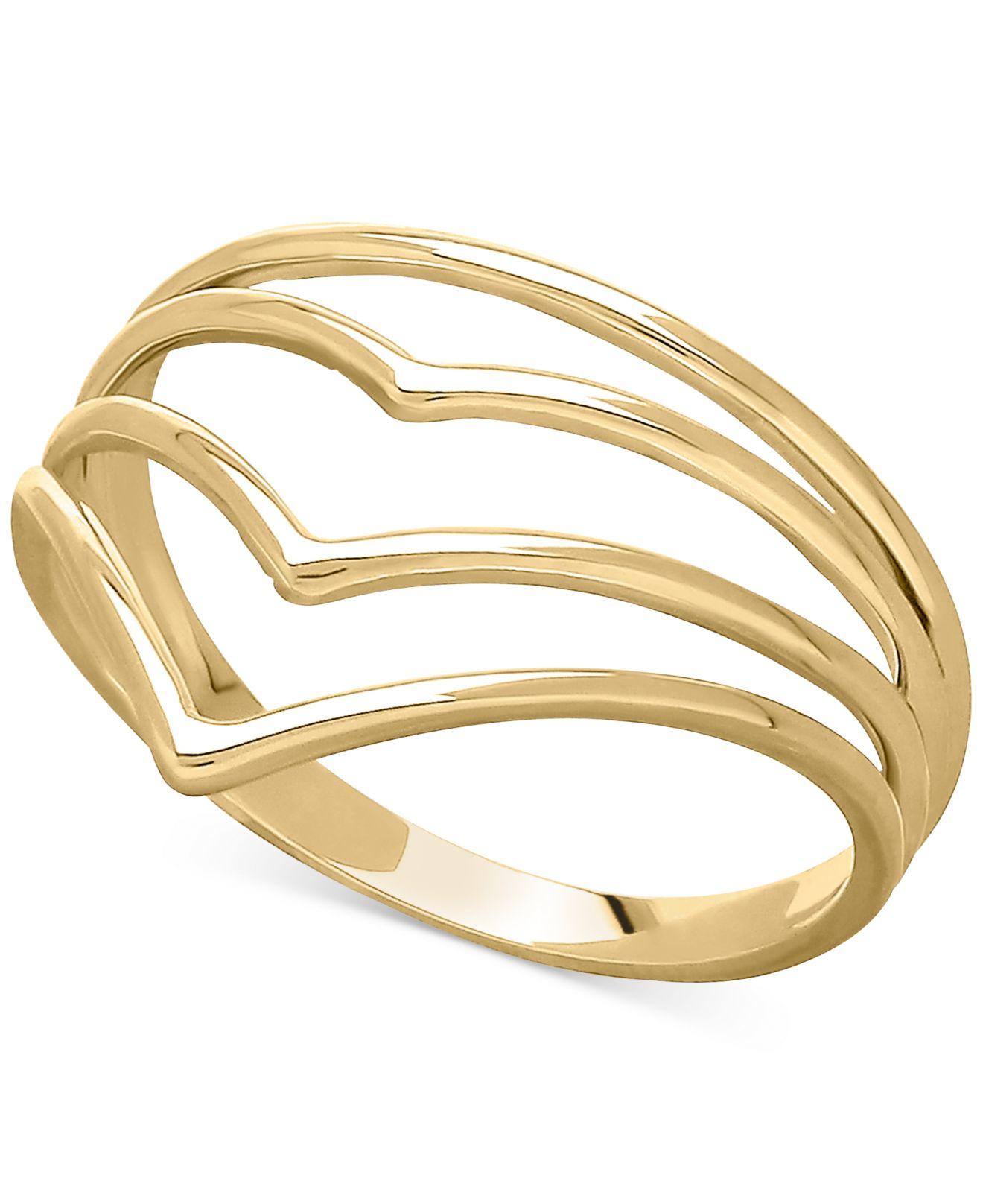 Macy s Ascending V ring In 14k Gold in Green gold Save 51%