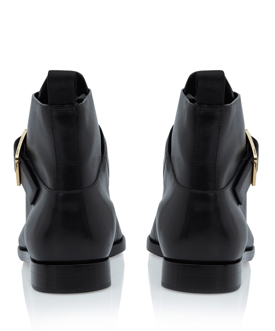 Alexander Wang Black Lena Leather Ankle Boots