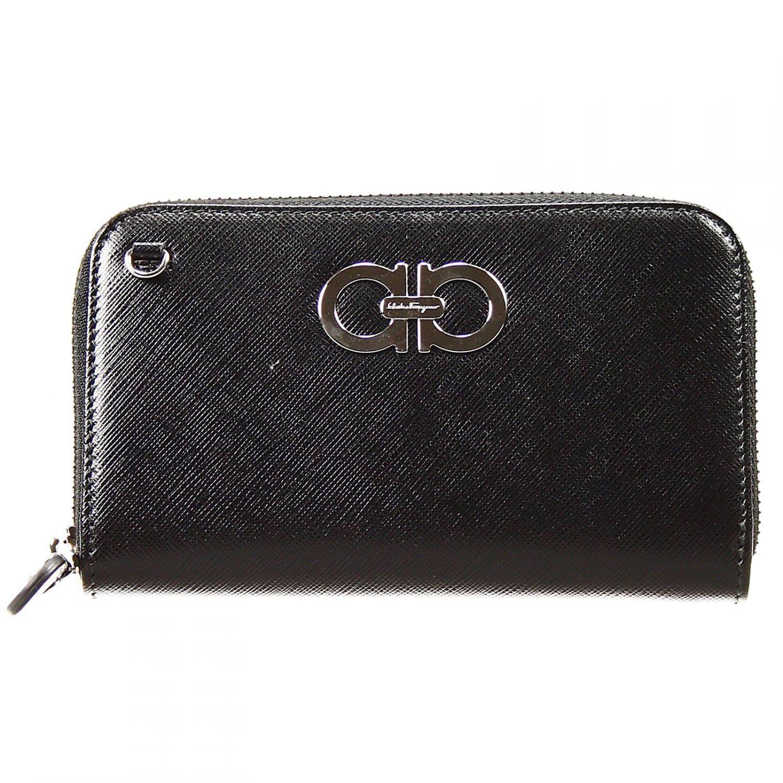 Lyst Ferragamo Wallet Zip Around Leather Tissu With