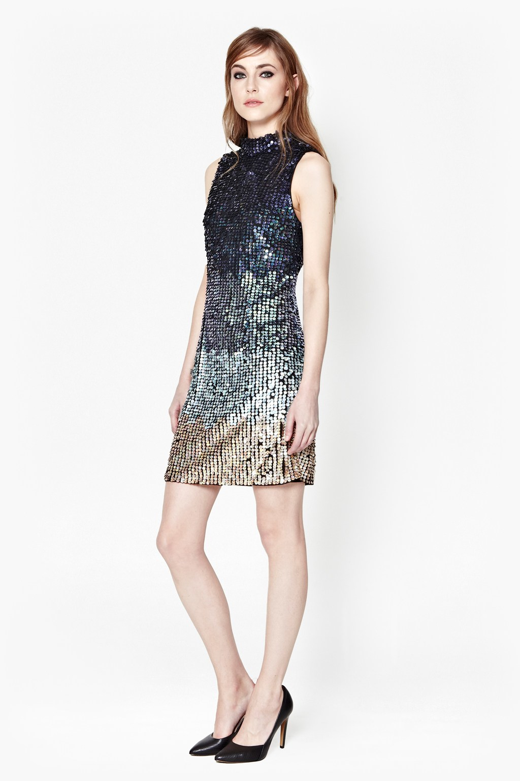c76e5751ea85 French Connection Cosmic Beam Sequin Dress in Blue - Lyst