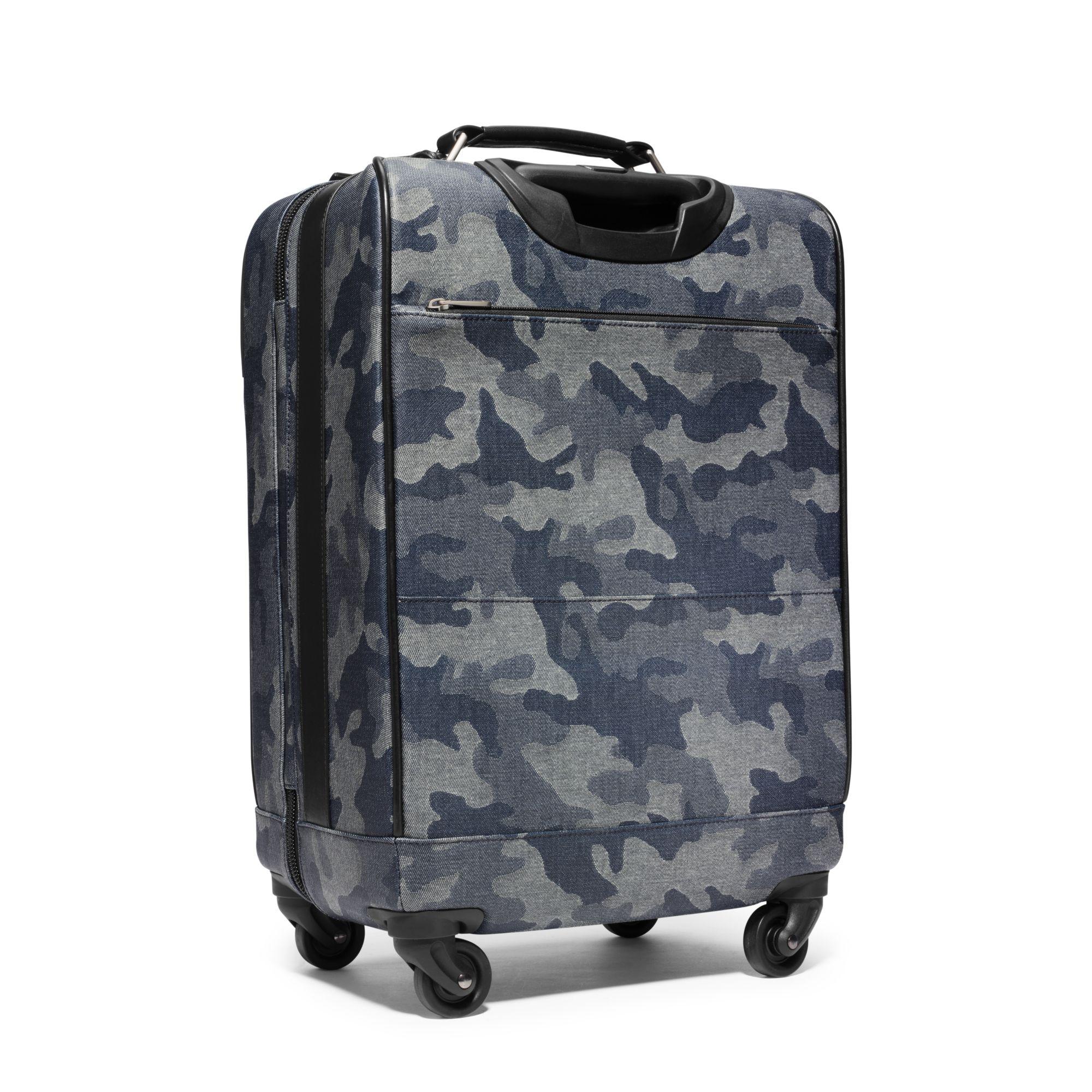 ffd7047cf3 Lyst - Michael Kors Jet Set Travel Denim Camouflage Suitcase in Blue ...