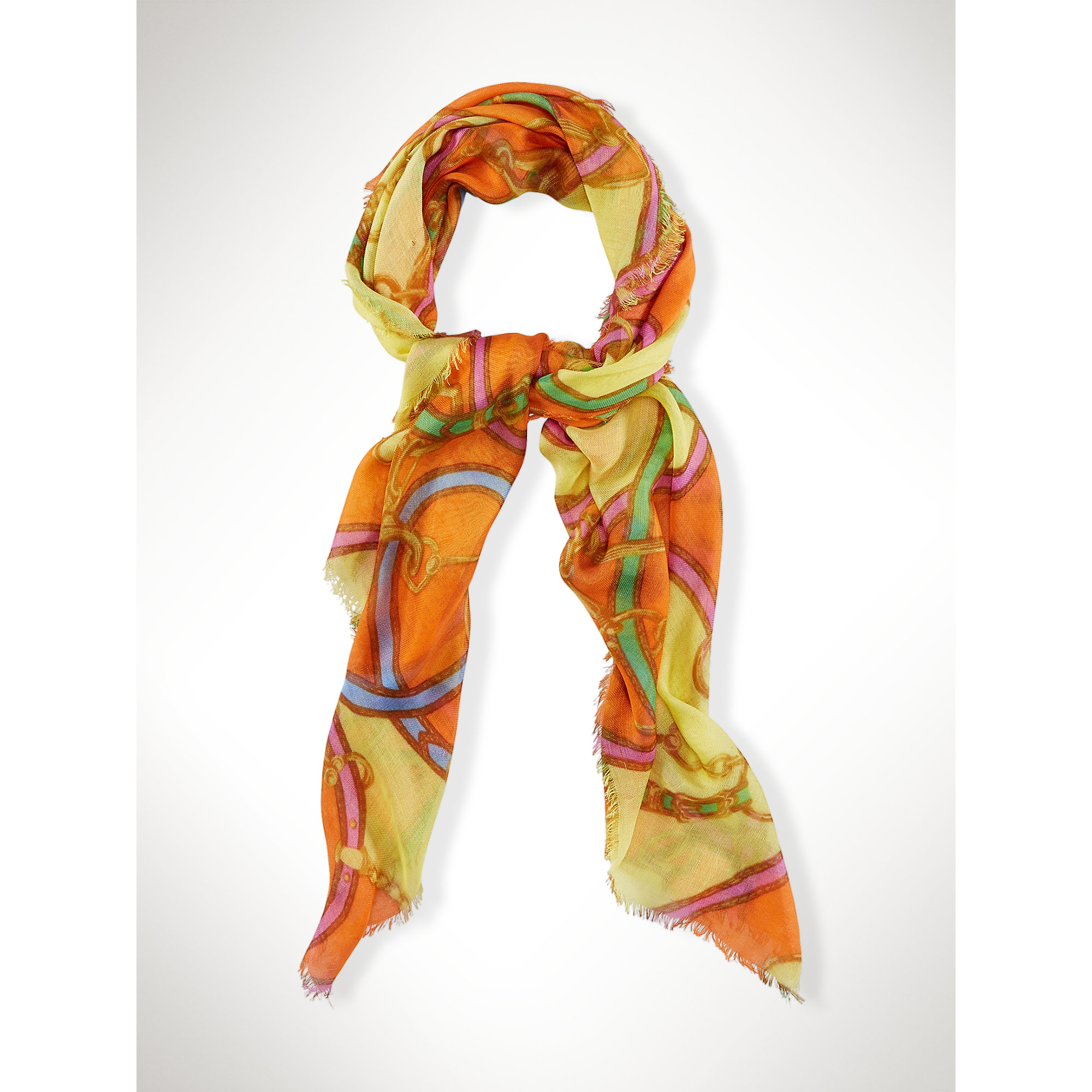 ralph bridle inspired scarf in orange lyst
