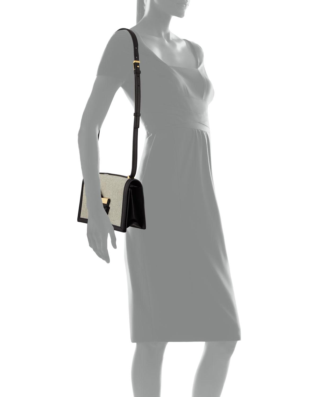 40fecf19b0bb Lyst - Loewe Barcelona Canvas Crossbody Bag in Natural