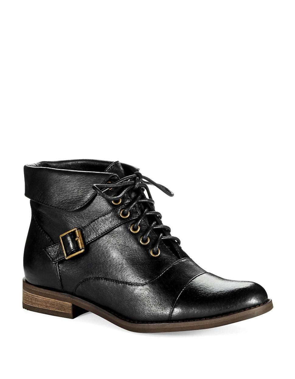 steve madden stinnger ankle boots in black lyst. Black Bedroom Furniture Sets. Home Design Ideas