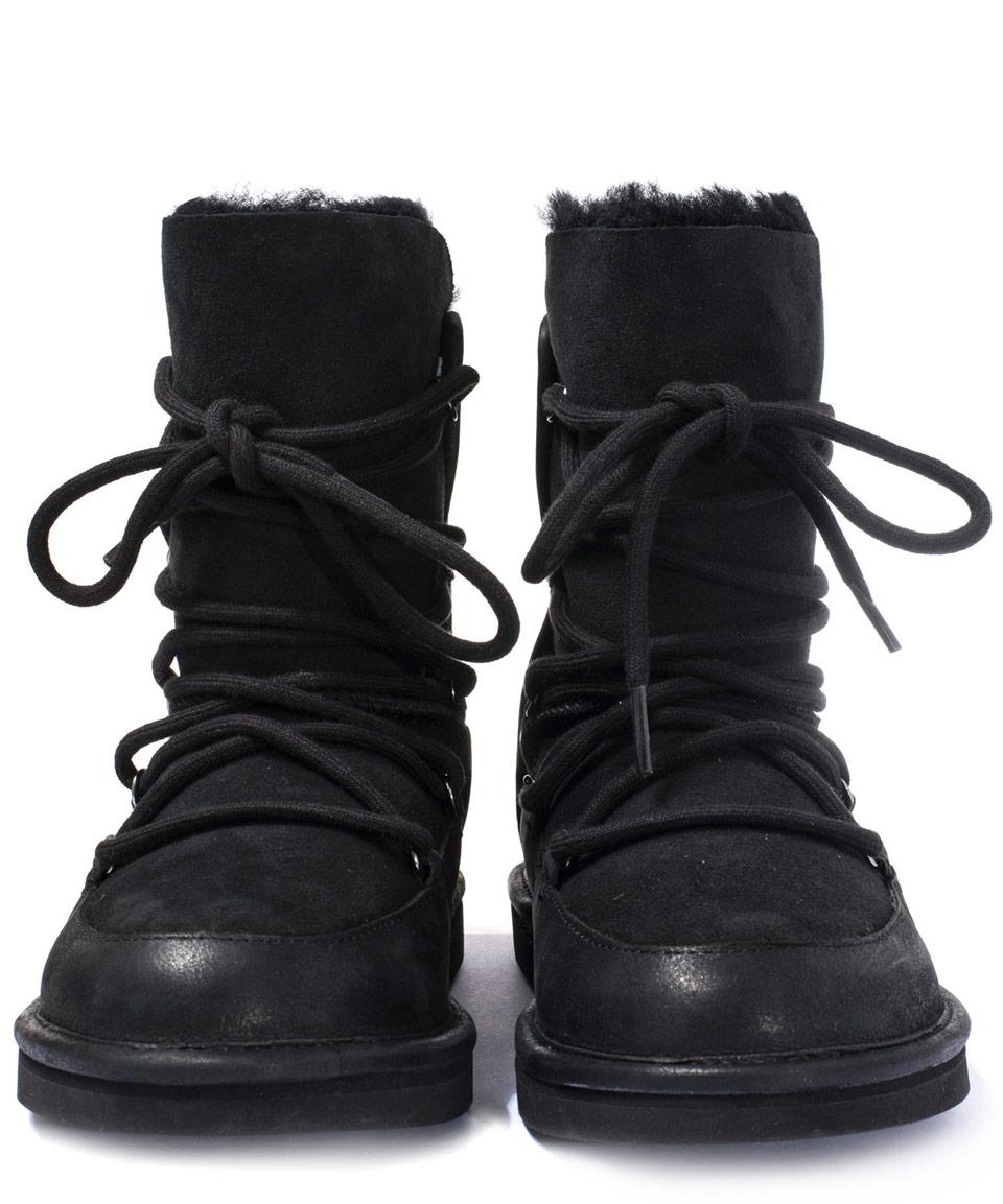 adff2604e7b UGG Black Sheepskin And Suede Lodge Boot