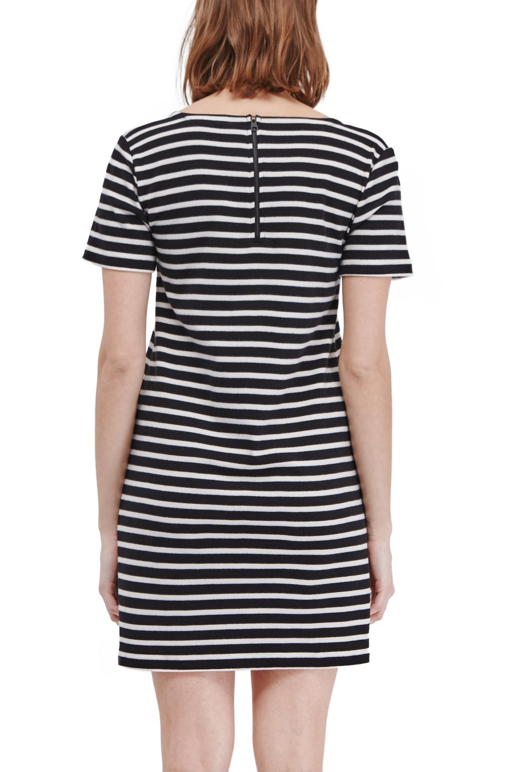 French Connection Annie Striped T Shirt Dress In Blue Lyst