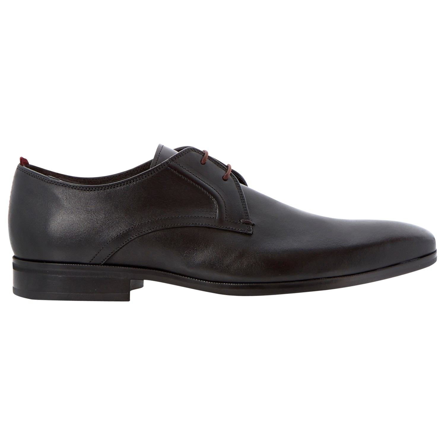 Bertie Rambled Gibson Leather Shoes in Black for Men