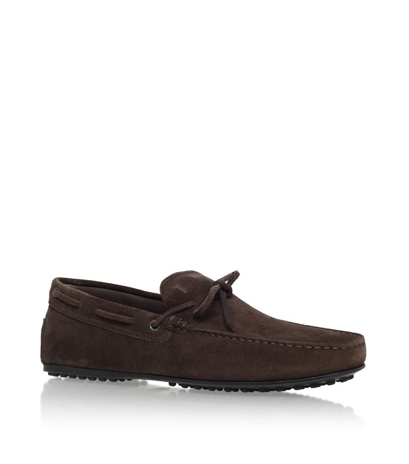 tod s gommino driving shoe in brown for lyst