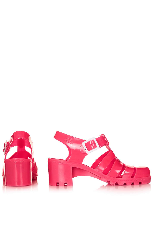 fffebddf1b3 TOPSHOP Nina Fluro Jelly Sandals Pink