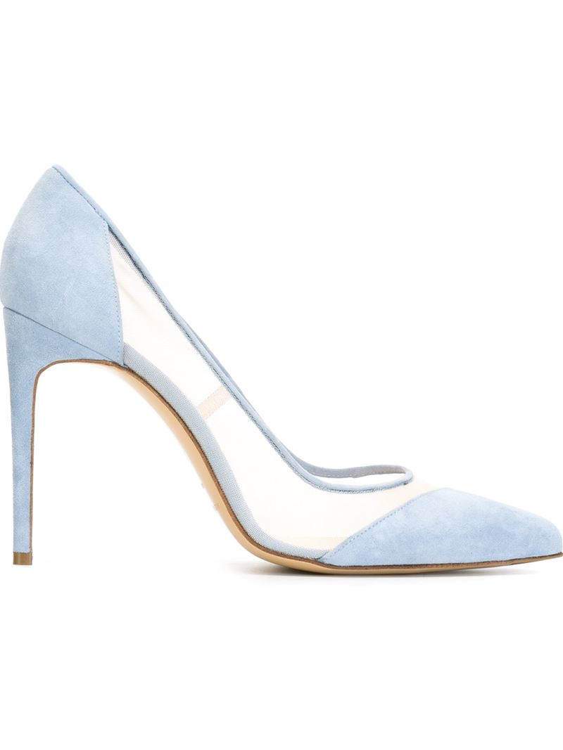 550d3ba0ef1 Bionda Castana Blue Paneled Mesh and Leather Pumps