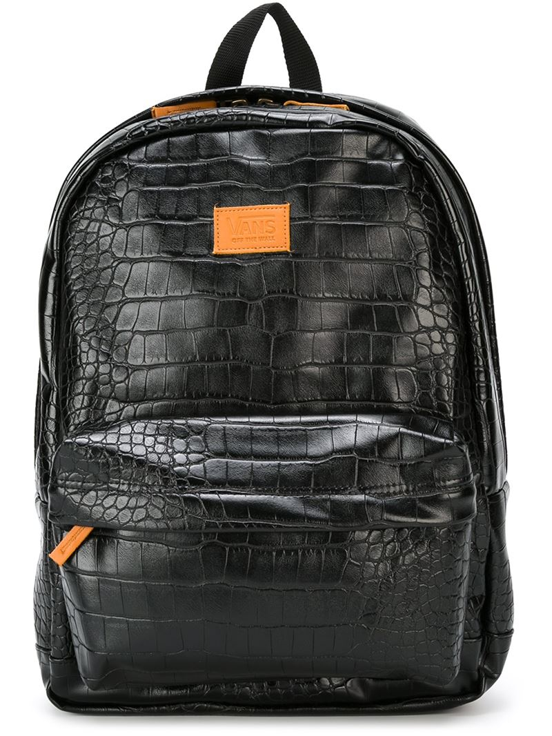 Lyst Vans Crocodile Backpack In Black For Men
