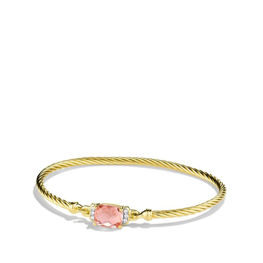 David Yurman Petite Wheaton Bracelet With Morganite And