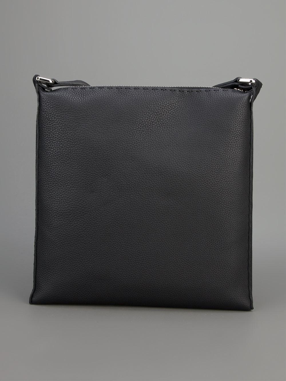 bcc13ce4aa7c Lyst - Fendi Selleria Cross Body Bag in Black for Men