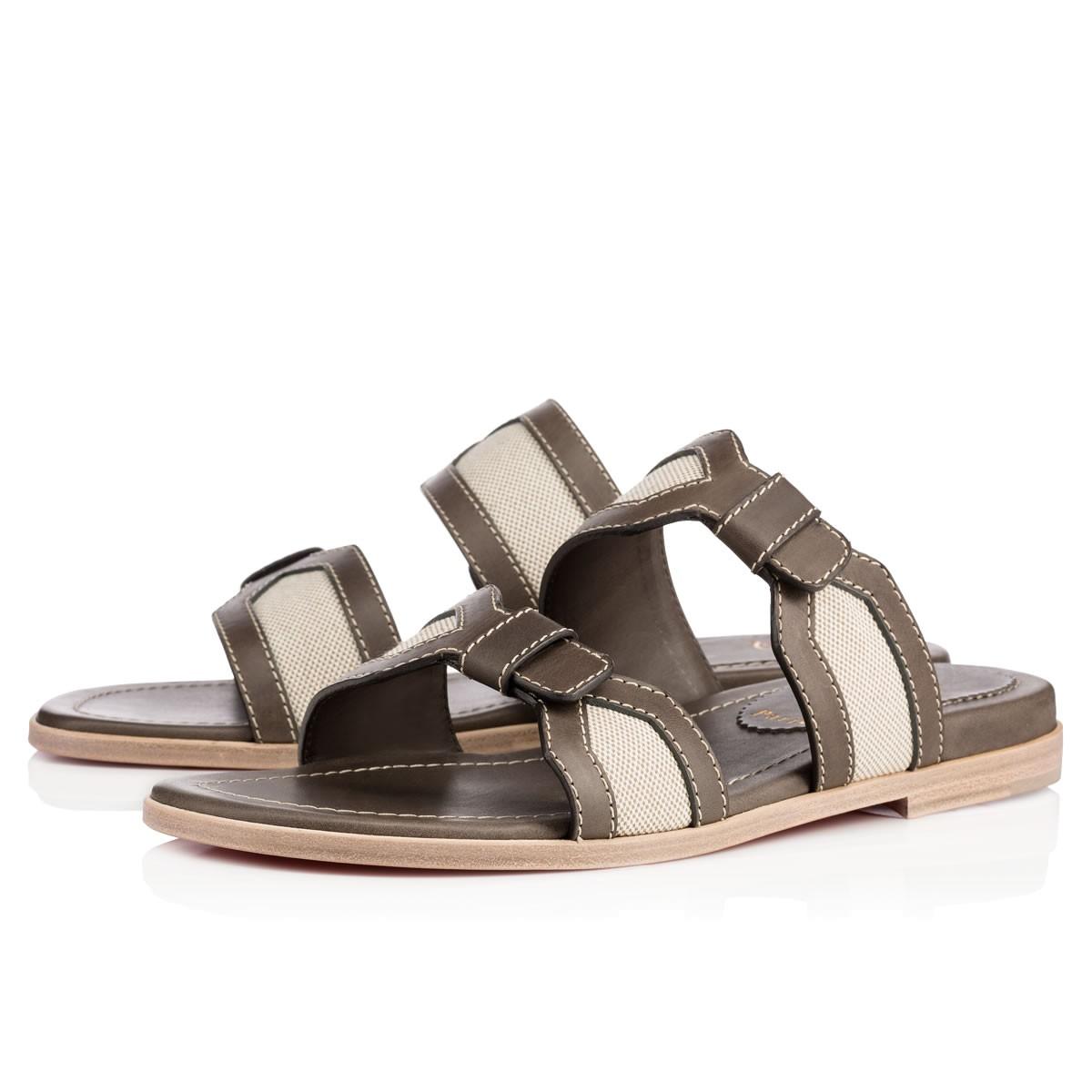 Christian Louboutin Leather Slide Sandals Louboutin