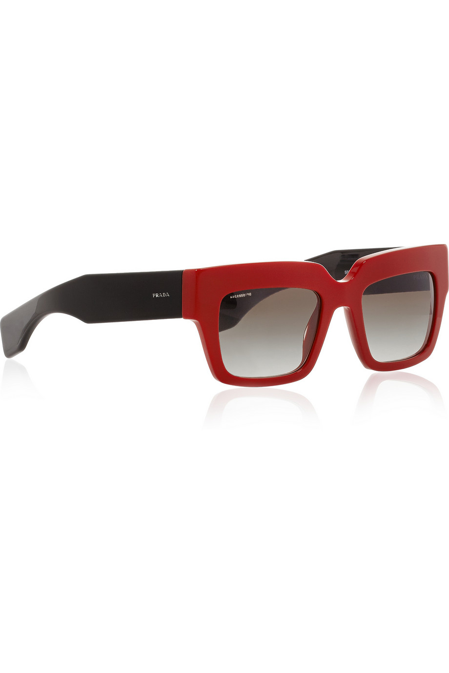 Square-frame Acetate And Silver-tone Sunglasses - Red Prada 1C2vD9G