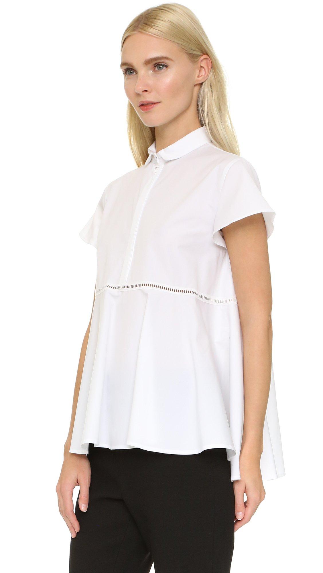 Giamba Short Sleeve Blouse in White