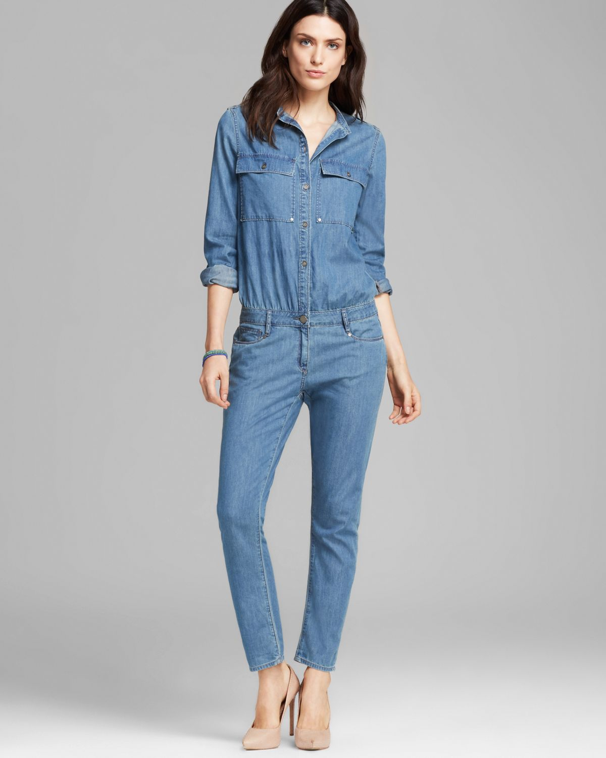 Simple and easy to throw on in a jiffy, denim jumpsuits and rompers have become a staple for casual style that goes anywhere. Shop rompers and overalls for kids and women, including one-piece denim with stretch and tie details or the classic overall style.
