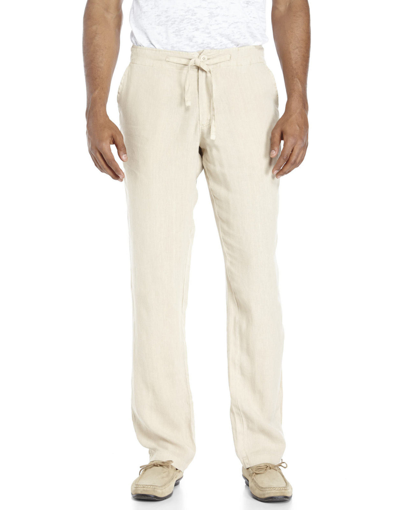 Tocco toscano Linen Drawstring Pants in White for Men | Lyst