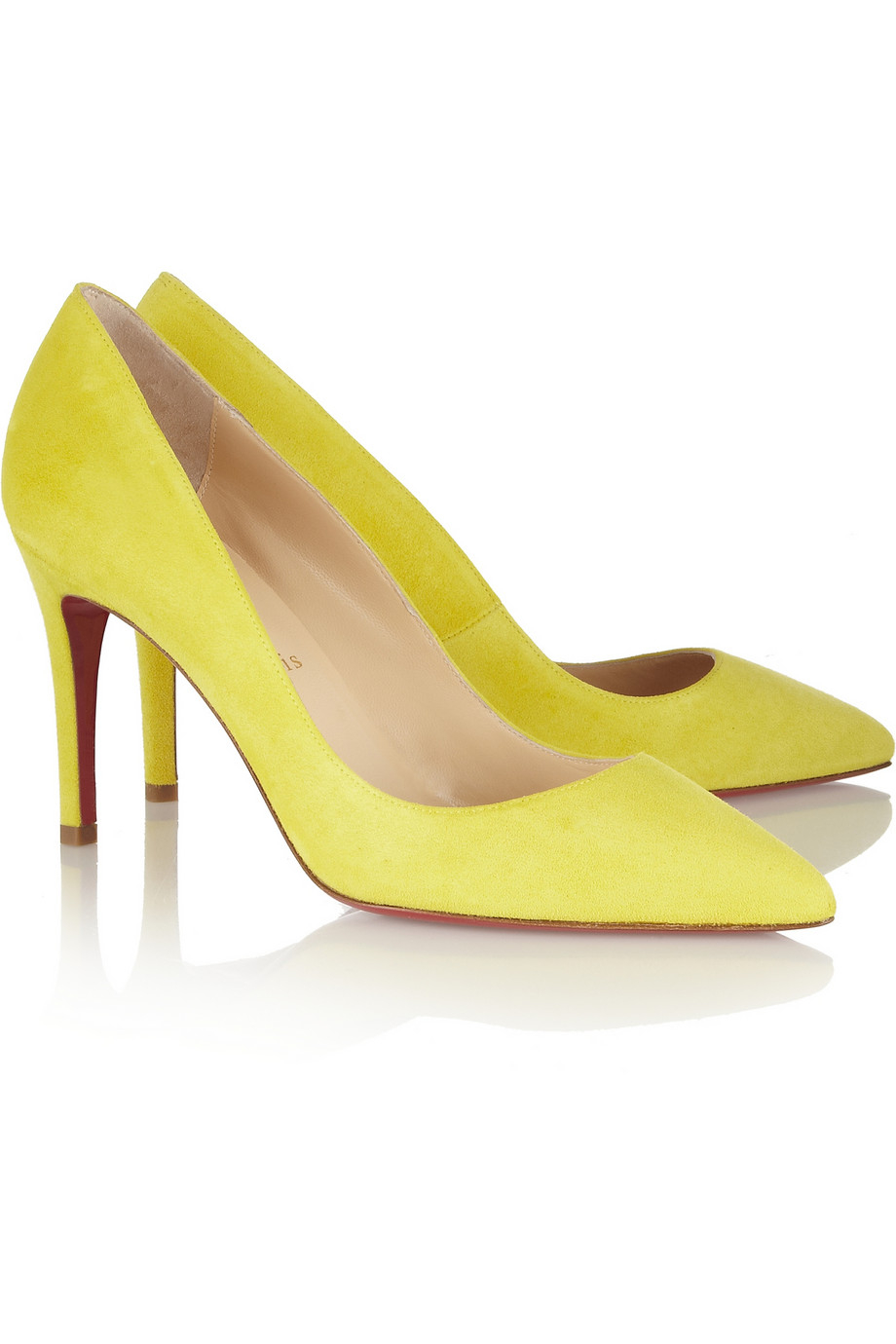 5119202d92c Christian Louboutin Yellow Pigalle 85 Suede Pumps