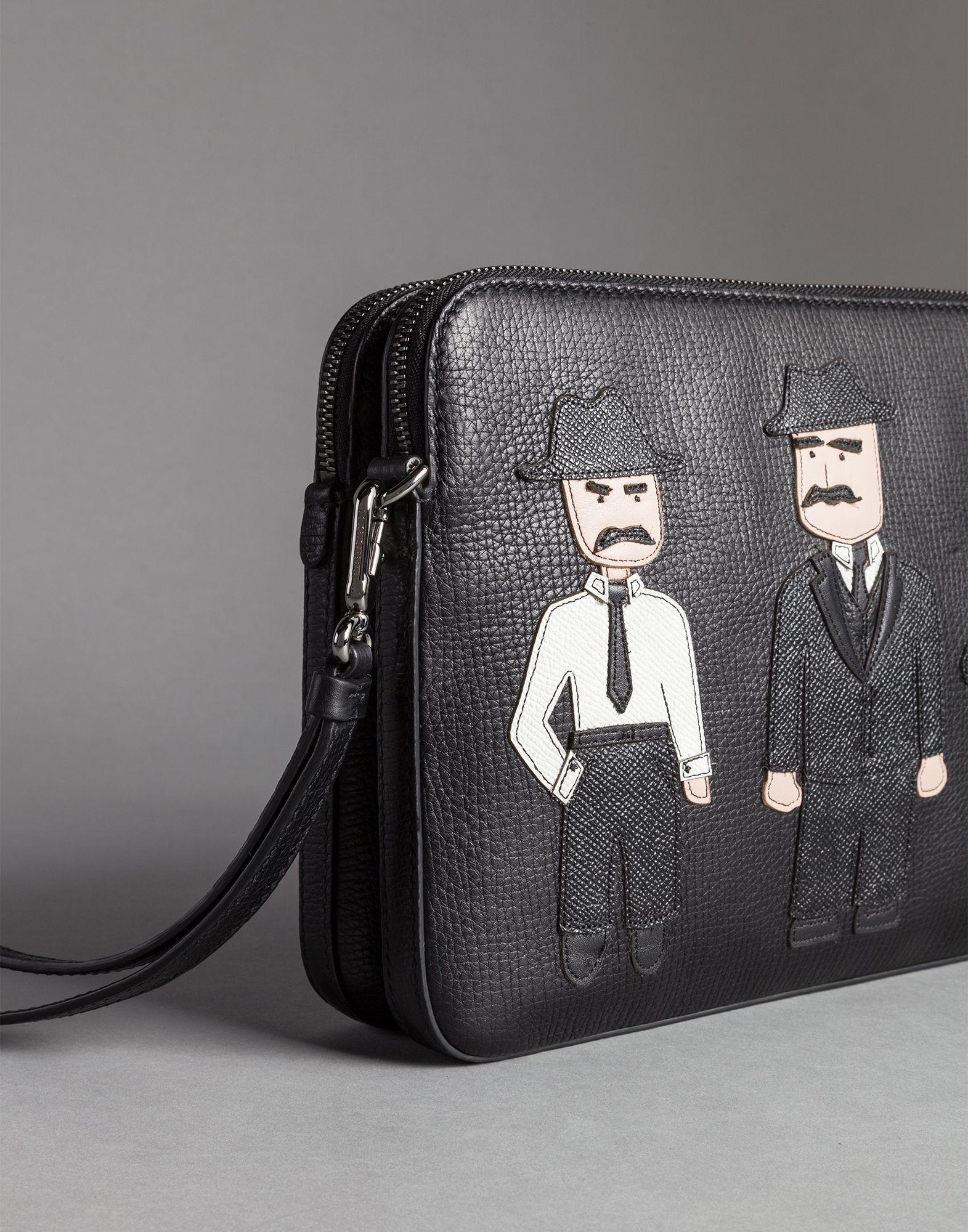 Lyst - Dolce   Gabbana Mediterraneo Calfskin Pouch Sicilian Men ... 7df35ea1886b8