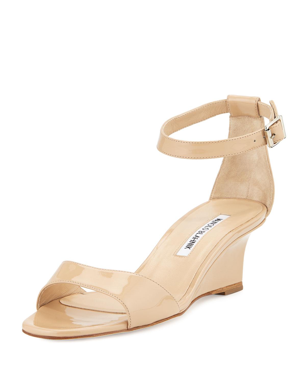 manolo blahnik sale wedge sandals