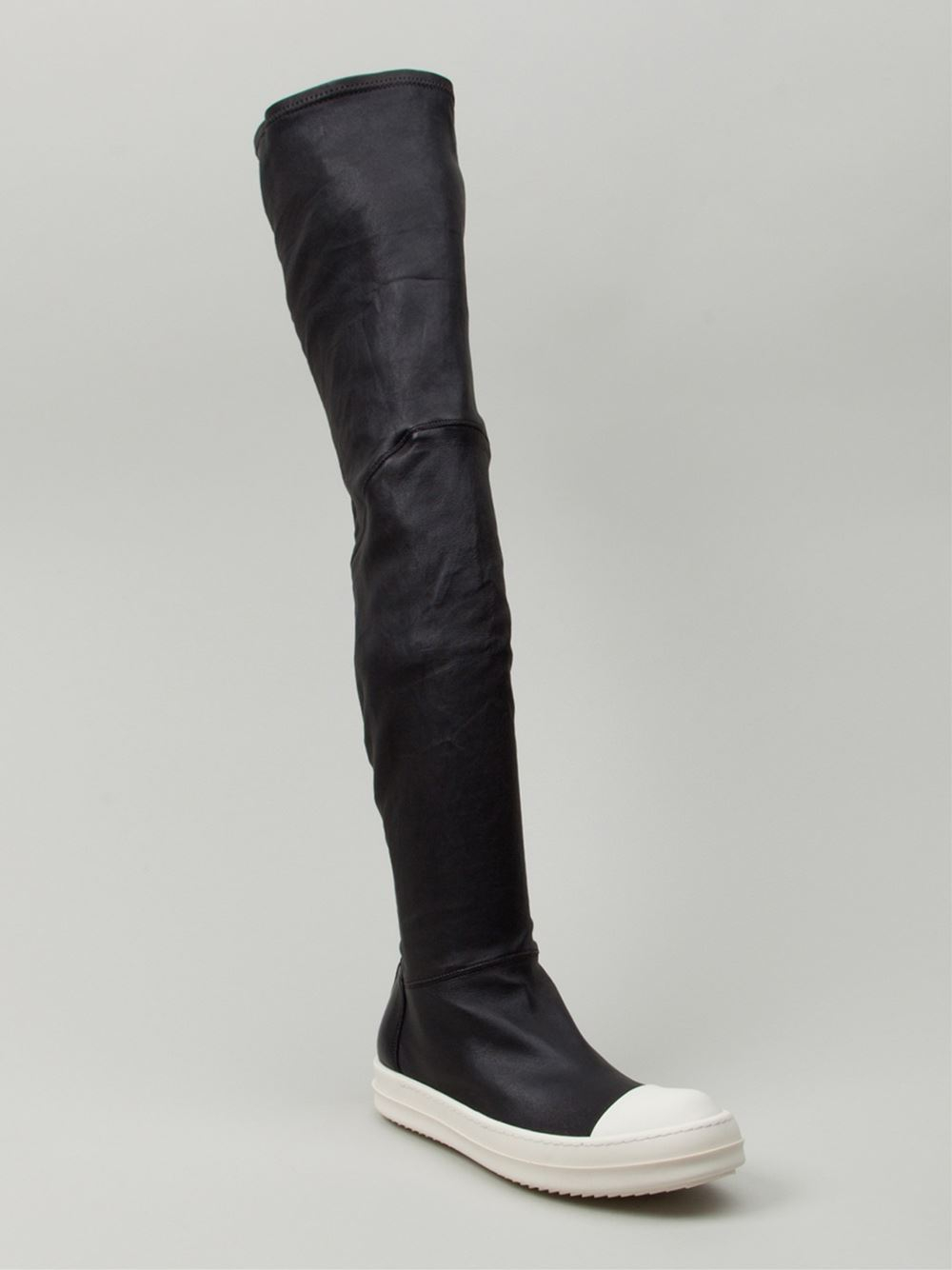 Rick Owens Thigh High Sneaker Boots in